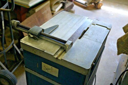 SUPER SPEED PRINTING MACHINERY Antique letterpress TRIM SAW Type Cut Saw