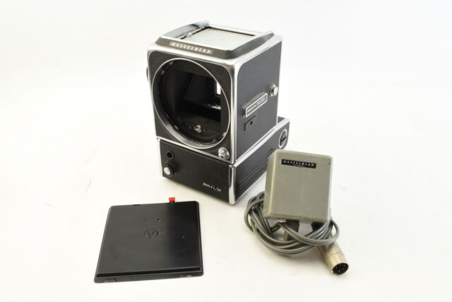 Hasselblad 500 EL/M Medium Format Film Camera Body With Charger & Cover