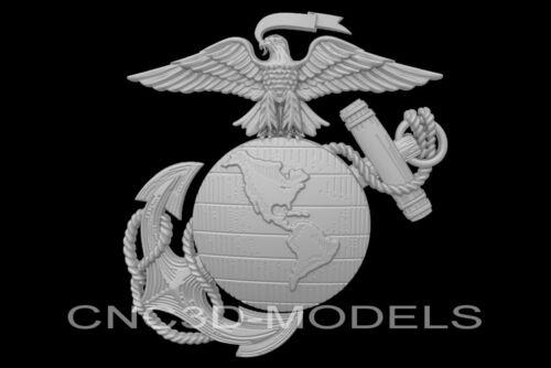 3D Model STL for CNC Router Engraver Carving Artcam Aspire USA Marine n142