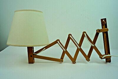60er Vintage Scherenlampe Kiefer Danish Modern Wandlampe translandia Lampe 1//2