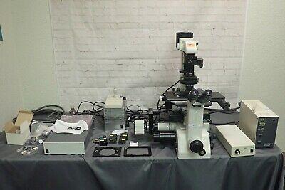 Nikon Te300 Inverted Fluorescence Microscope W Lep Motorized Stage Mac5000 Etc