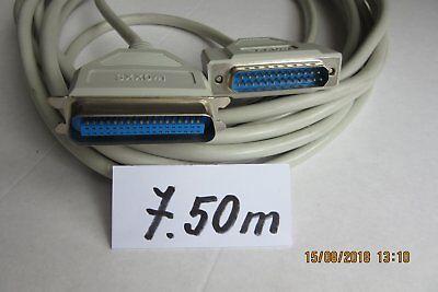 Cable DB 25 mâle vers Centronics mâle ( imprimante)  7,5  mètres