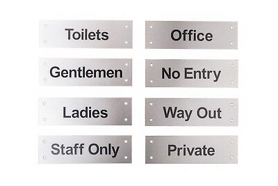 Facilities Door Sign, Stainless Steel,Toilet,No Entry,Way Out,Private,Office](No Way Out Sign)