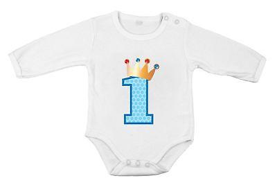 Geschenkidee für 1. Geburtstag Body aus reiner Baumwolle Neugeborenes Baby Prinz ()