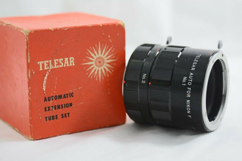NIKON F CAMERA MOUNT TELESAR 2PC AUTO EXTENSION TUBE SET (MINT)