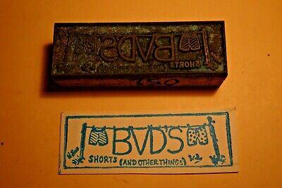 1960s Printing Letterpress Printer Block Decorative Print Cut Bvds