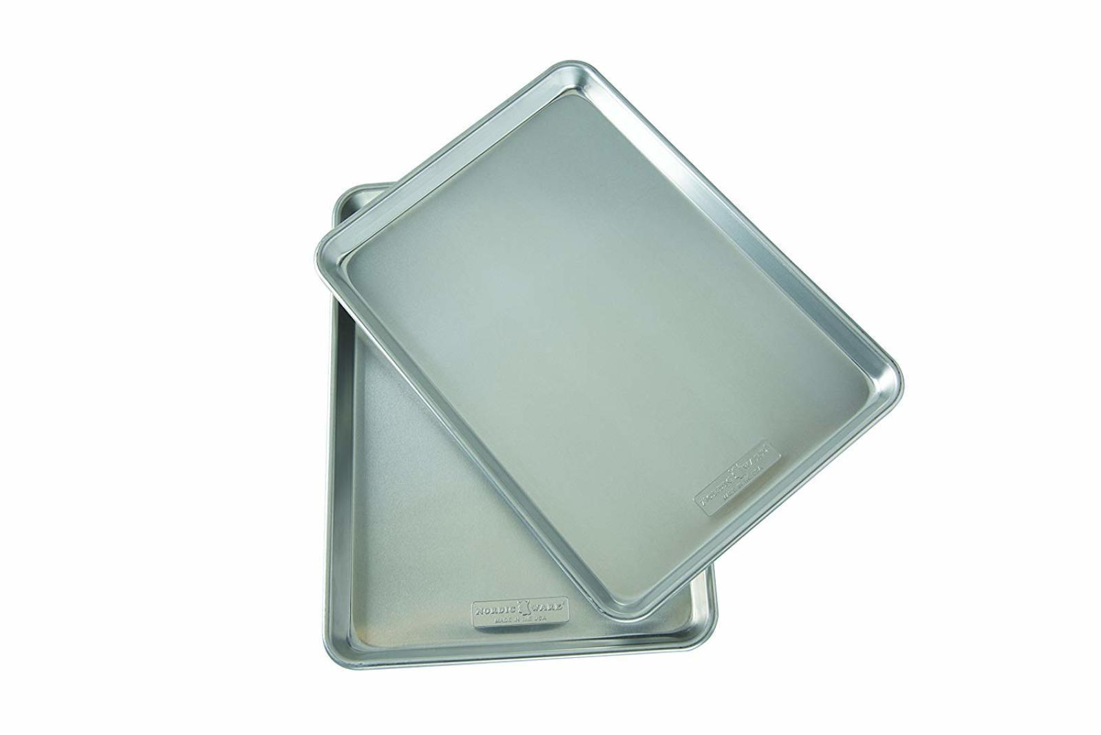 Nordicware Natural Aluminum Commercial Baker's Half Sheet ,