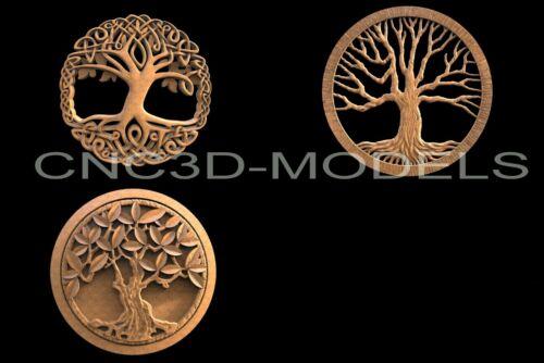 3D STL Models for CNC Router Engraver Carving Artcam Aspire Tree Wood H102