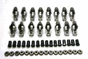 CHEVY 350 383 400 SBC SELF ALIGNING ROLLER TIP ROCKER ARM 3/8 STUD, RATIO 1.6