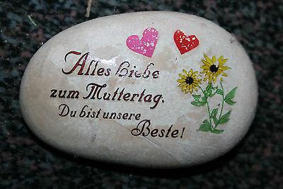 Schöner Deco Naturstein mit Spruch ca.11 cm x 7,5 cm x 3 cm ideal zum Muttertag