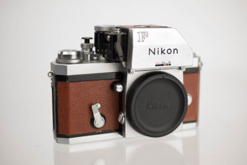 Nikon F With FTN Finder Replacement Cover - Laser Cut Recycled Leather