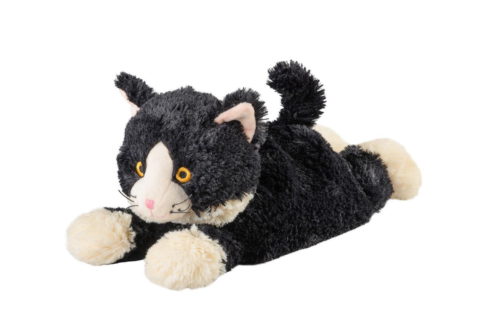 Original Warmies Greenlife Wärmestofftier Wärmekissen Körnerkissen Wärmetier NEU Katze liegend