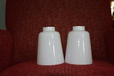 """2  WHITE GLASS LIGHT GLOBES SHADE FOR CHANDELIER, SCONCE 5.5"""" TALL 1.75"""" FITTER"""