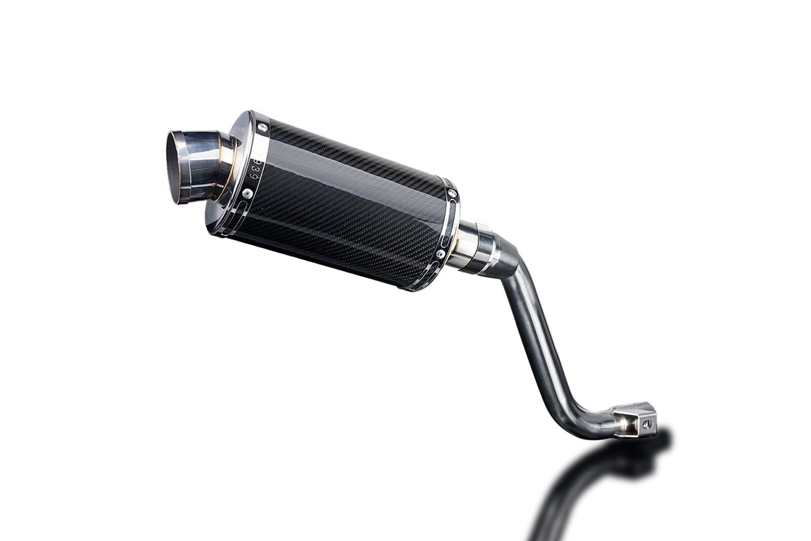 Delkevic Aftermarket Slip On compatible with Honda Rebel 500 /& Rebel 300 DS70 9 Carbon Fiber Oval Muffler Exhaust 17-19