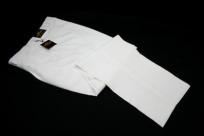 Mens White Dress Pants Tailored Trousers Pleated Slacks sizes Waist 30 to 42  Tailored Mens Pants