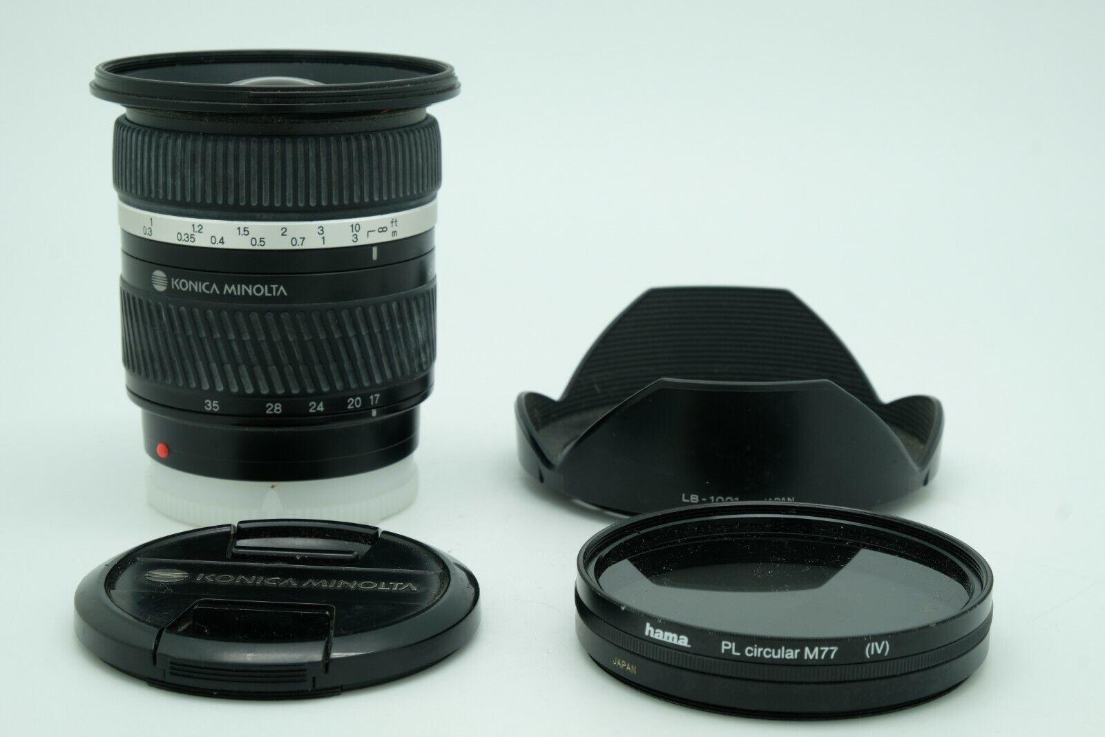 Konica Minolta AF Zoom 17-35 mm f/2,8-4,0 D for Reflex Sony A-mount Alpha Filter