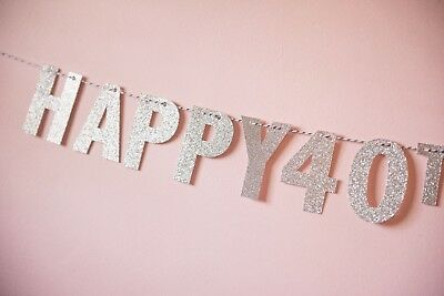 PERSONALISED GLITTER Bunting/banner Birthday/Congrats/WEDDING various colours ](Congrats Banner)