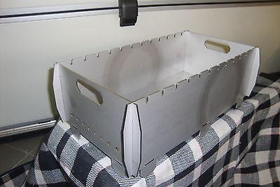 Schaschlik Grill, Mangal (Мангал) aus 3 mm Edelstahl (V2A) für unterwegs, gebraucht gebraucht kaufen  Fulda