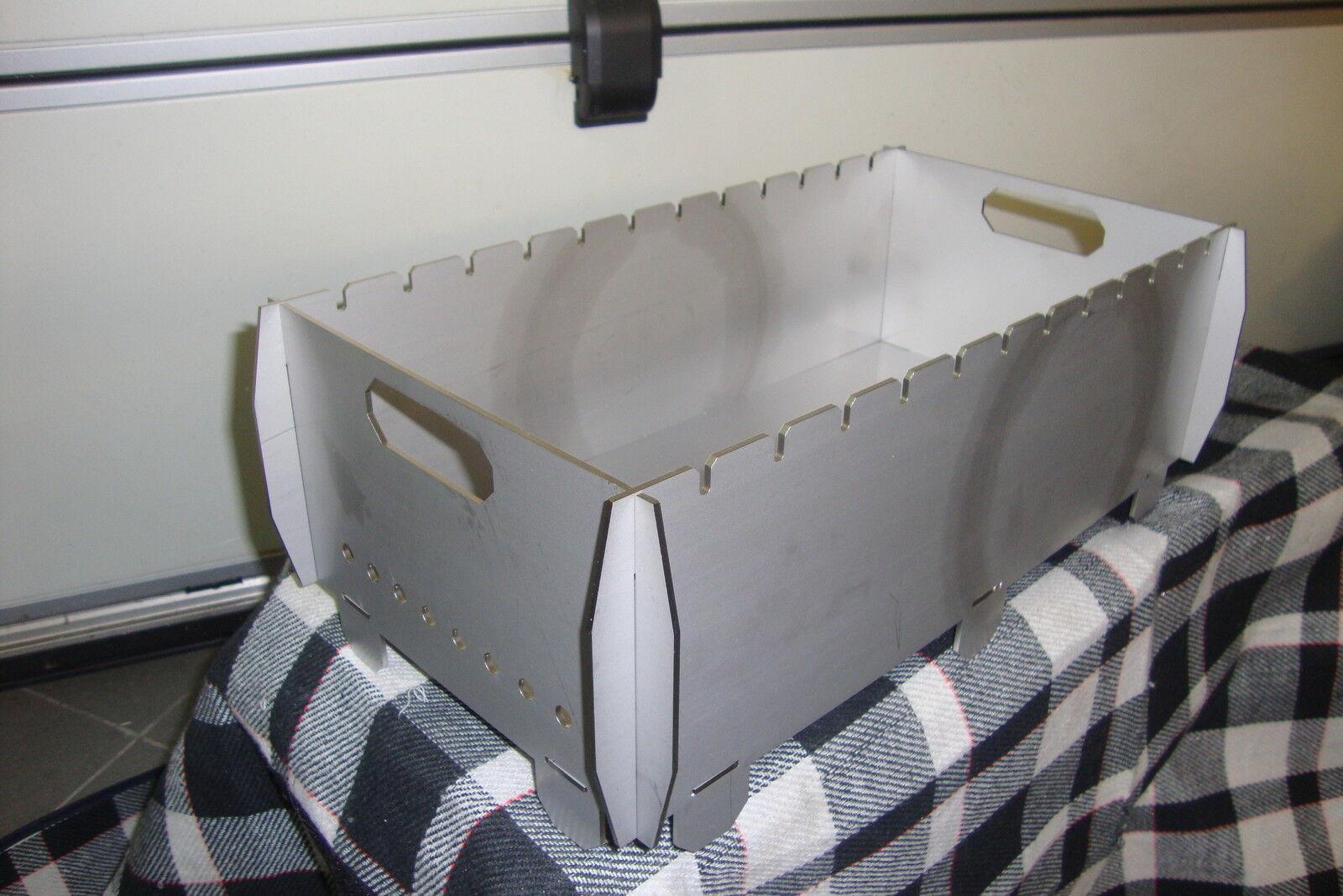 Schaschlik Grill, Mangal (Мангал) aus 3 mm Edelstahl (V2A) für unterwegs