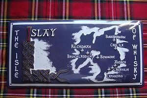 Whisky,Islay,Ardbeg,Laphroaig,Bowmore,Lagavulin,Blechschild,30x15cm,geprägt