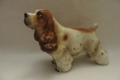 "VINTAGE ""STANDING COCKER SPANIEL"" OLIMCO JAPAN CERAMIC FIGURINE - MINT"