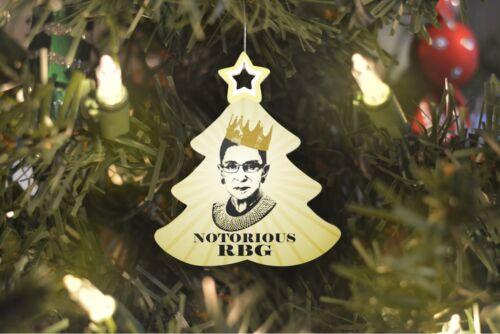 Notorious RBG Ruth Bader Ginsburg Tree Ornament