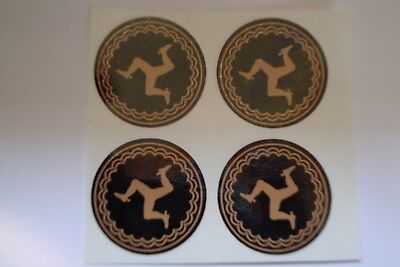 "16  BLACK  GOLD  IOM   CROWN GREEN STICKERS  1""   LAWN BOWLS FLATGREEN  LEGS iom"