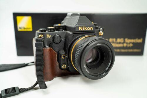 RARE!!! LIMITED NIKON Df GOLD EDITION w/ KIT LENS DSLR CAMERA AF-S 50mm F1.8G