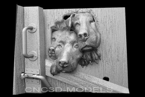 3D Model STL for CNC Router Engraver Carving Artcam Aspire Dog Door Decor g133
