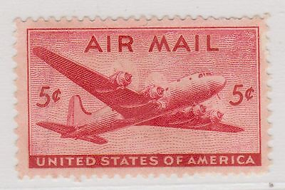 (UST-19) 1941 USA 5c mail plane (part off set) Air Mail (F)
