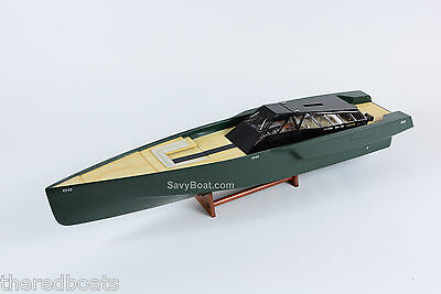 118 Wally Power Luxury Motor Yacht Wooden Race Boat Model RC Ready 36""