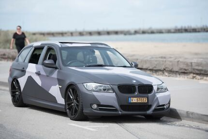 2011 MY12 BMW 320i e91 vinyl wrapped