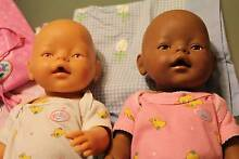 Baby born dolls x 2 and back pack - White and ethnic dolls Edithvale Kingston Area Preview
