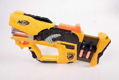 Nerf N-Strike FireFly Rev-8 Pump Action W/ Light 10 darts Works Great