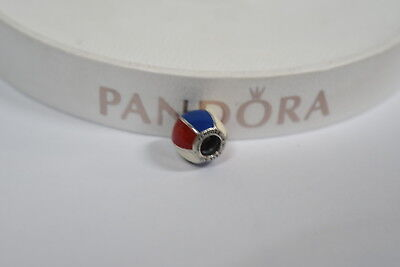 Red And White Beach Ball (Enamel Beach Ball Red White and Blue - Pandora Charm Genuine - Number)