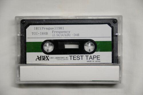 ABEX Test Tape TCC-184B, 12.5k/1k/63Hz For Azimuth & Freq Resp