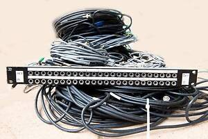 Audio patch panel, jacks and cables Normanville Yankalilla Area Preview