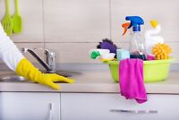 Female service cleaner