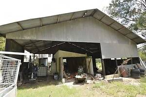 LARGE CORRU shed, 150x150 hardwood posts, steel trusses - cheap Lower Portland Hawkesbury Area Preview