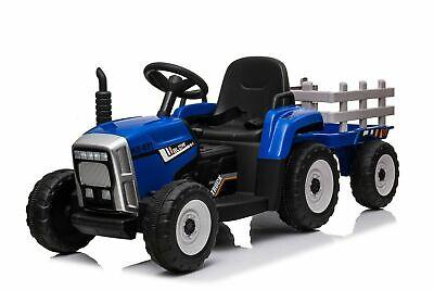 Kinder Elektroauto Traktor Anhänger Kinderauto Kinderfahrzeug Elektro 12V  Blau