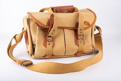 Vintage Billingham Pro SLR Camera Shoulder Bag Tan Leather & Canvas V15 Pro Camera Bags
