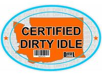 Certified Dirty Idle Sticker not Clean Idle Sicker NEW YORK