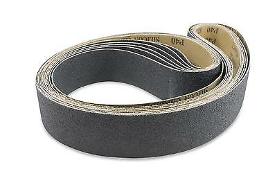 2 X 72 Inch 40 Grit Silicon Carbide Sanding Belts 6 Pack