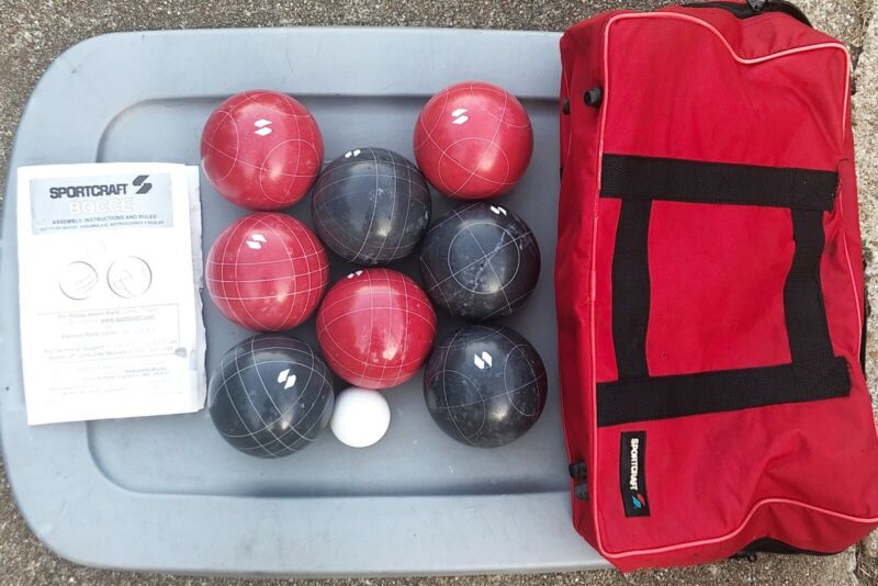 🇮🇹Sportcraft Bocce Ball Set ~ Made In Italy