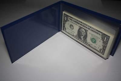 10 Consecutive Serial # US $1 DOLLAR BILLS Uncirculated in 10-Pocket PORTFOLIO