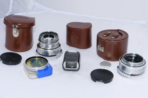 Voigtlander Prominent  Skoparon 35mm f3.5, Dynaron 100mm f4.5 lens Kontur Finder