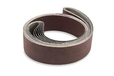 2 X 72 Inch 220 Grit Flexible Aluminum Oxide Multipurpose Sanding Belts 6 Pack