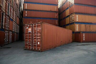 Used 40 High Cube Steel Storage Container Shipping Cargo Conex Seabox St. Lous