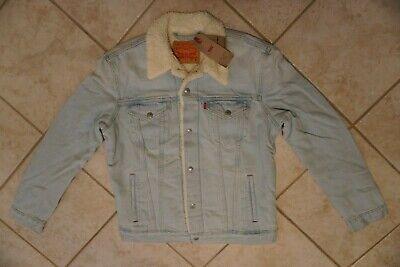 NWT MEN'S LEVI'S SHERPA TRUCKER JEAN DENIM JACKET COAT Multiple Sizes $98 Denim Jean Jacket Coat