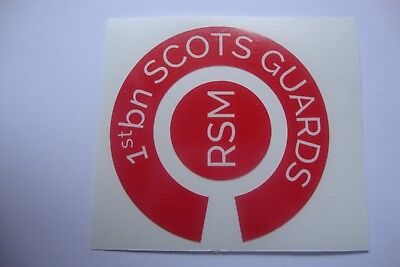 SCOTS GUARDS 1st BN  16 CROWN GREEN BOWLS STICKERS 8 FINGER + 8 THUMB PEG